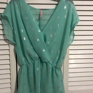 yoon me Tops - blue blouse